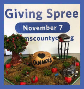 Find the Canner Pig at the 2019 Giving Spree on November 7!